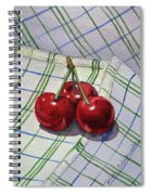Three Sweet Cherries By Irina Sztukowski Spiral Notebook