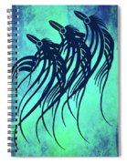 Three Crows Contemporary Minmalism Spiral Notebook