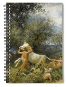 Three Faun With Cow And Calf Spiral Notebook