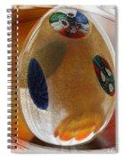 Three Fiori Murano Spiral Notebook