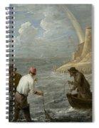 Three Fishermen Casting Their Nets Spiral Notebook