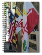 Three Flags Spiral Notebook