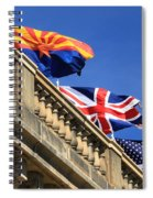 Three Flags At London Bridge Spiral Notebook