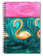 Three Flamingoes Spiral Notebook