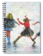 Three Girls And Boy Spiral Notebook