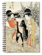 Three Girls Paddling In A River Spiral Notebook