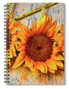 Three Graphic Sunflowers Spiral Notebook