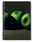 Three Green Apples Spiral Notebook