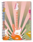 Three Guitars Pop Art Spiral Notebook