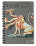 Three Headed Monster, 18th Century Spiral Notebook