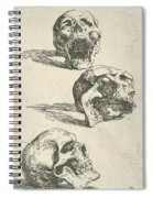 Three Human Skulls Spiral Notebook