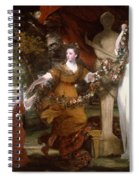 Three Ladies Adorning A Term Of Hymen Spiral Notebook