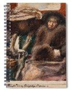 Three Ladies On Carriage Spiral Notebook
