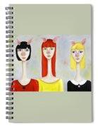 Three Little Pig Ladies  Spiral Notebook