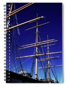 Three Mast Sailing Rig Spiral Notebook