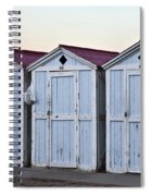 Three Modello Beach Cabanas Spiral Notebook