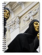 Three Muses On The Lithuanian National Dramatic Theatre In Vilnius Spiral Notebook