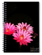 Three Night Lilies  Spiral Notebook