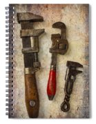 Three Old Worn Wrenches Spiral Notebook