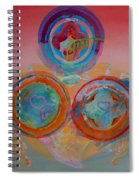 Three On Marine Spiral Notebook