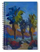 Three Palms At Palm Desert Spiral Notebook