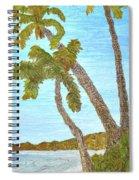 Three Palms At The Beach Spiral Notebook