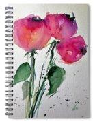 Three Pink Flowers 2 Spiral Notebook