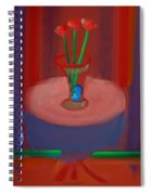 Three Poppies In A Vase Spiral Notebook
