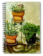 Three Potted Plants Spiral Notebook