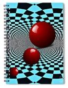 Three Red Balls Spiral Notebook