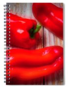Three Red Bell Peppers Spiral Notebook