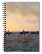 Three Riders In The Kansas Flint Hills Spiral Notebook