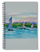 Three Sailboats Spiral Notebook