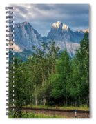 Three Sisters And The Railroad Spiral Notebook