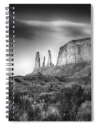 Three Sisters Formation At Monument Valley Spiral Notebook