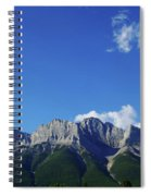 Three Sisters Ridges Canmore Alberta Gateway To Banff National Park Spiral Notebook
