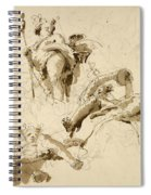 Three Studies Of The God Bacchus Spiral Notebook