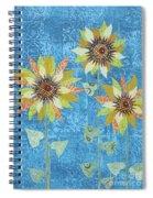 Three Sunflowers Spiral Notebook