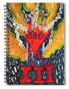Three Swords Of 2016 Spiral Notebook
