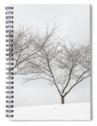 Three Trees In A Snowstorm Spiral Notebook