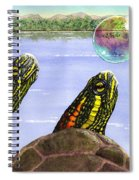 Three Turtles Three Bubbles Spiral Notebook