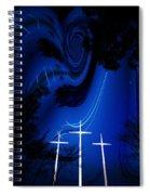 Three White Crosses Spiral Notebook