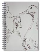 Three White Ducks Drawing Spiral Notebook