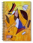 Three White Petals Spiral Notebook