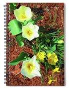 Three White Tulips Painting Spiral Notebook