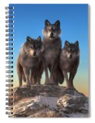 Three Wolves Watching You Spiral Notebook