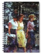 Three Women In Town Spiral Notebook