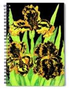 Three Yellow-black Irises, Painting Spiral Notebook