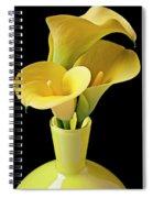 Three Yellow Calla Lilies Spiral Notebook