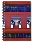 Threereflective Columns Spiral Notebook